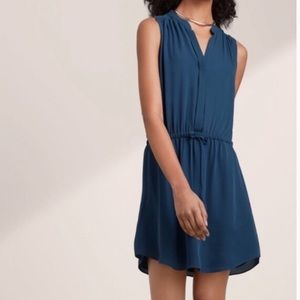 Babaton 100% Silk Blue Dress